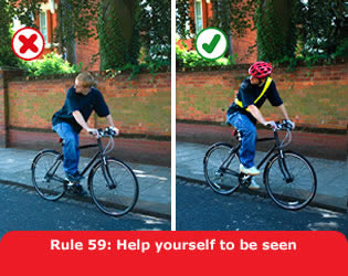Help other road users to see you